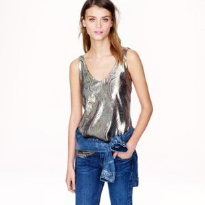 J. Crew Cate Cami Gold Gilded Paisley